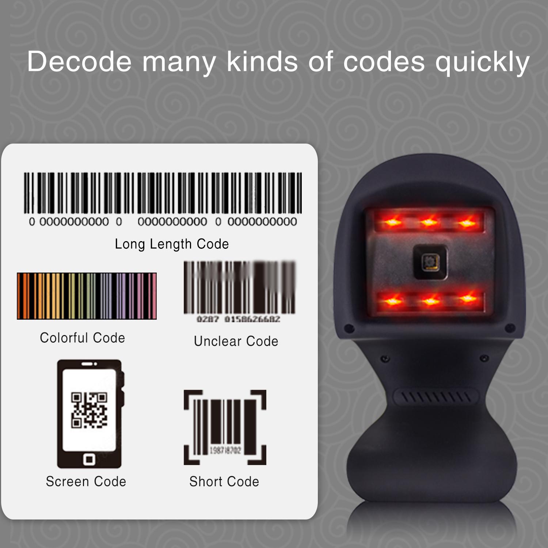 MJ-9208 2018 New Omni-directional 2D barcode scanner - symcode